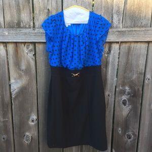 Polka Dot Pinup Pencil Dress sz10